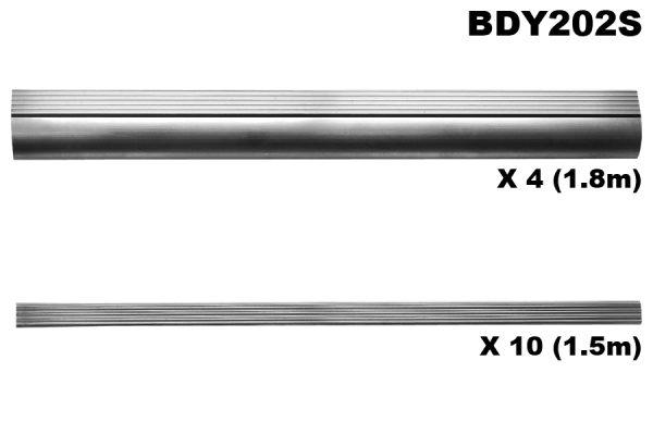 Running board edge & tread set (4x1.8m edge,10x1.3m tread)
