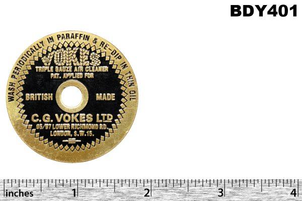 Vokes badge air filter