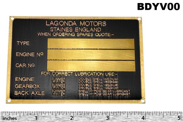 Chassis plate, V12