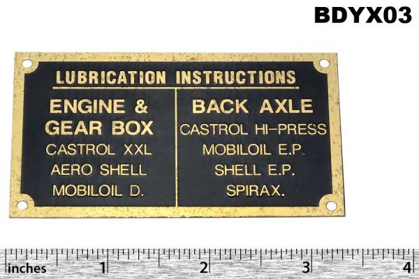 Lubrication plate - large