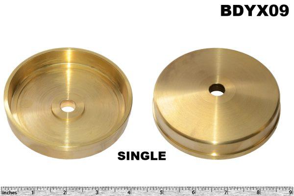 Spare wheel cap brass