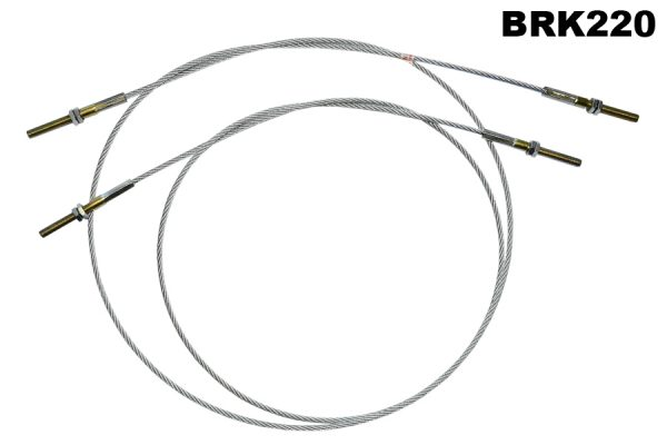 "2 L Brake Cables (1 Long 63.5"", 1 Short 53"")"