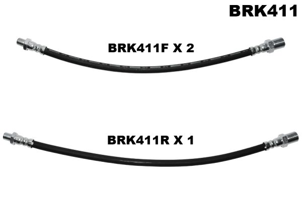 Brake hose set of 3