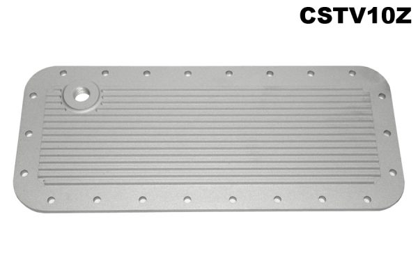 Water jacket plate, large oblong with threaded boss.