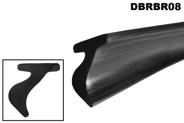 Windscreen to bodywork sealing rubber for DB2.6 drop-head coupe.