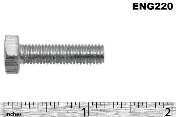 "1/4"" BSF x 1"" zinc plated hex headed water plate set screws"
